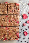 Strawberry Chocolate Almond Granola Squares