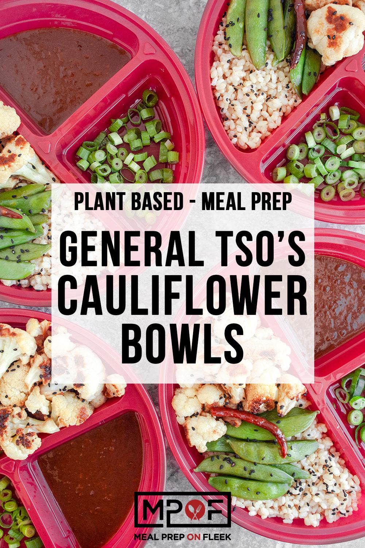 General Tso's Cauliflower Bowls