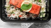 Cauliflower Tabouli and Salmon Meal Prep