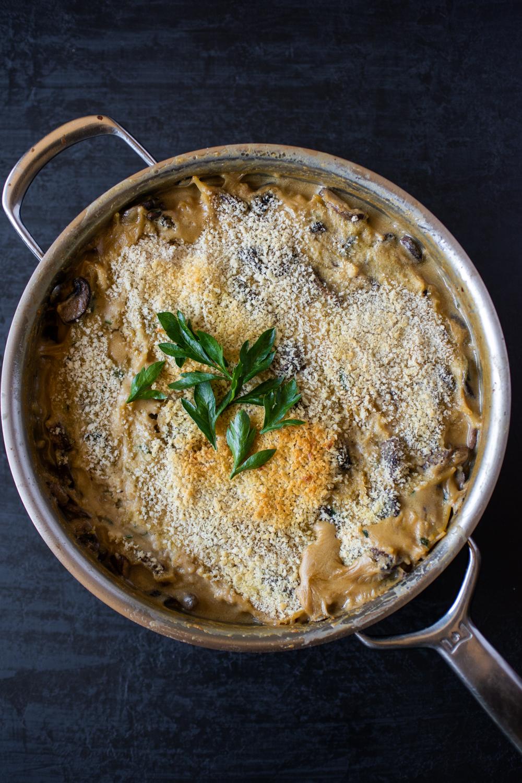 One Pan Mushroom Tetrazzini