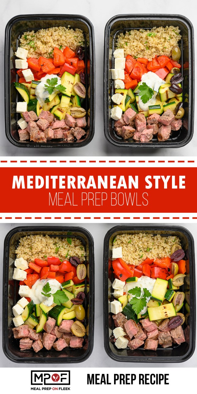 Mediterranean Style Meal Prep Bowls