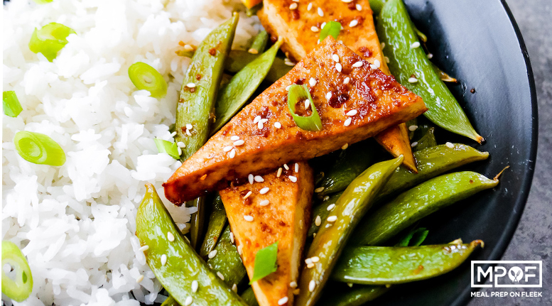Orange Sesame Tofu and Snap Peas