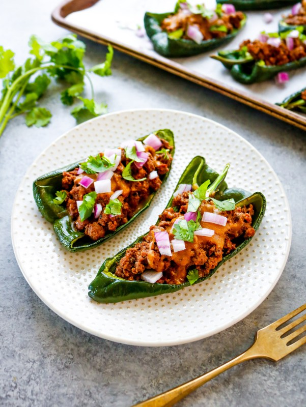 Sheet Pan Zesty Stuffed Poblano Peppers
