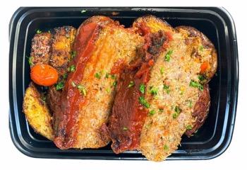 Flashback Meatloaf & Roasted Potatoes
