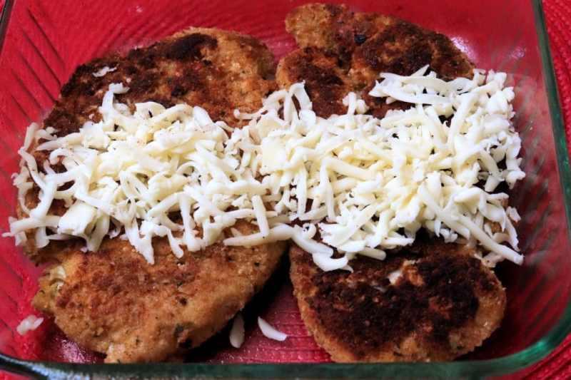 Crispy chicken Parmesan