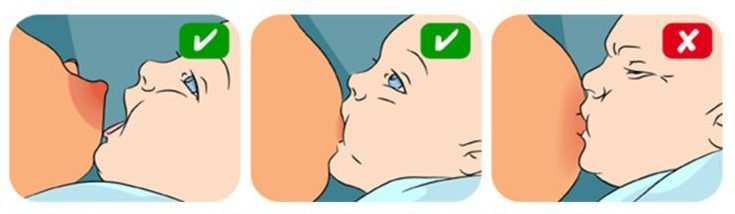 كيفية وضع الطفل في الرضاعة الطبيعية
