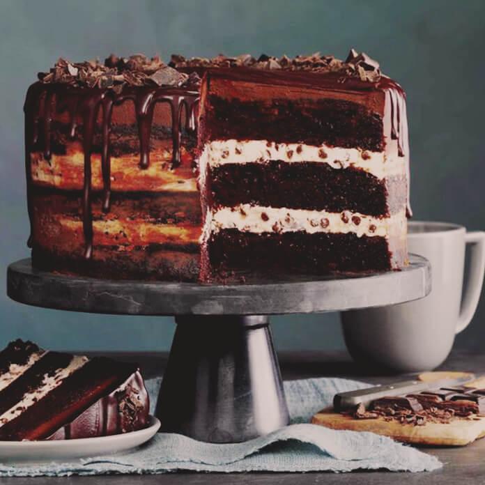 كعكة جاناش الشوكولاتة