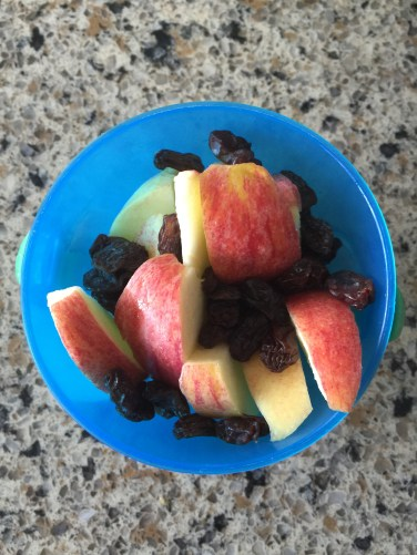 Apples and raisins for the car ride