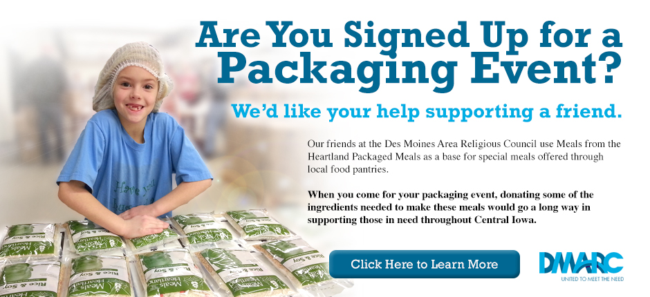 sign up for packaging events, donate supplies