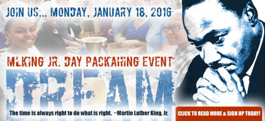 martin luther king jr day packaging event