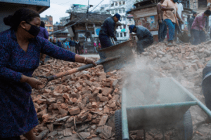 nepal earthquake, earthquake relief, food for the starving, convoy of hope, meals from the heartland