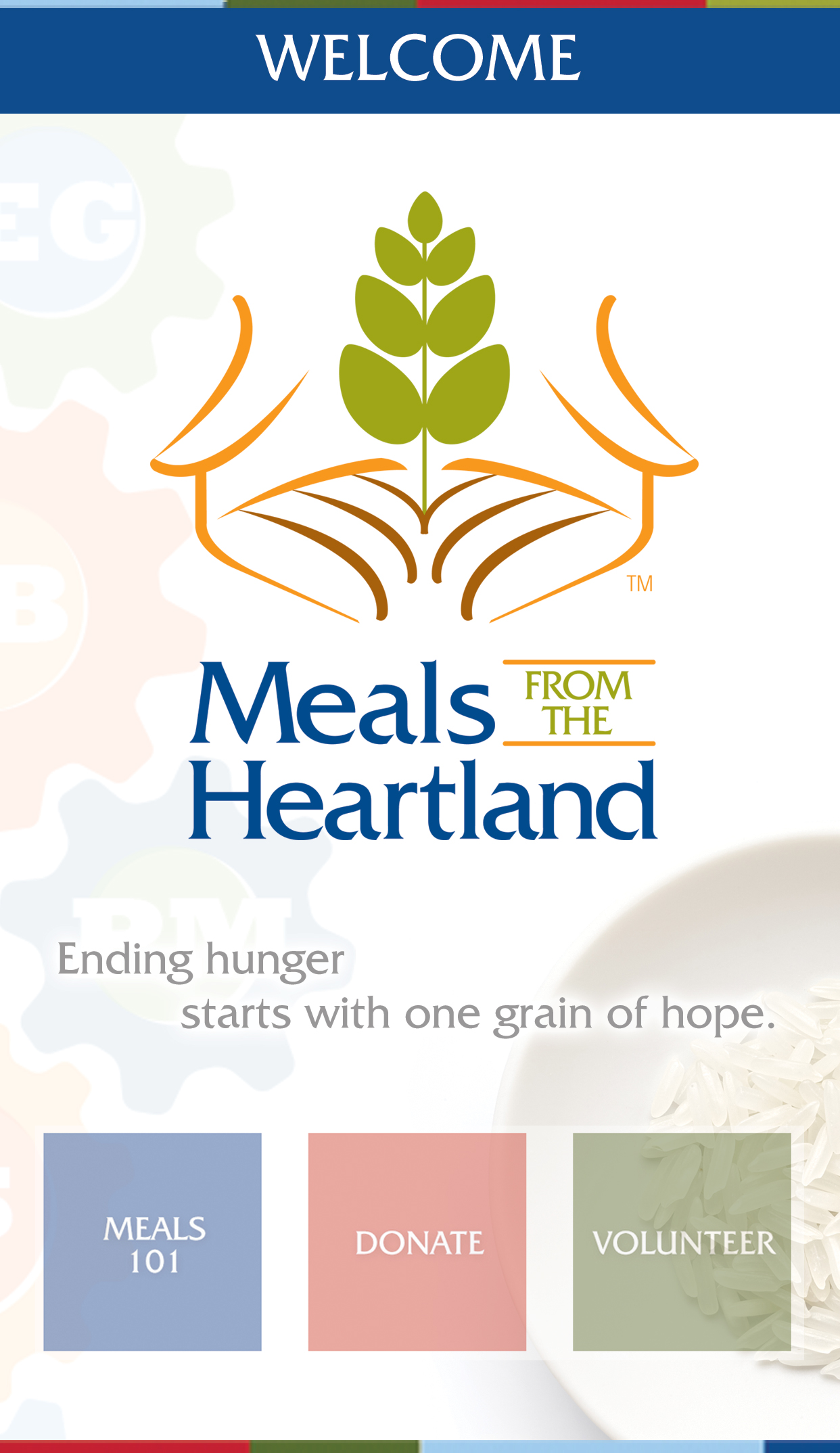 welcome to Meals from the Heartland - Fighting Worldwide Hunger one grain of hope at a time