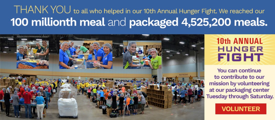10th Annual Hunger Fight Volunteers & Thank You