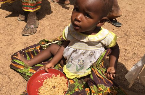 Child receiving food
