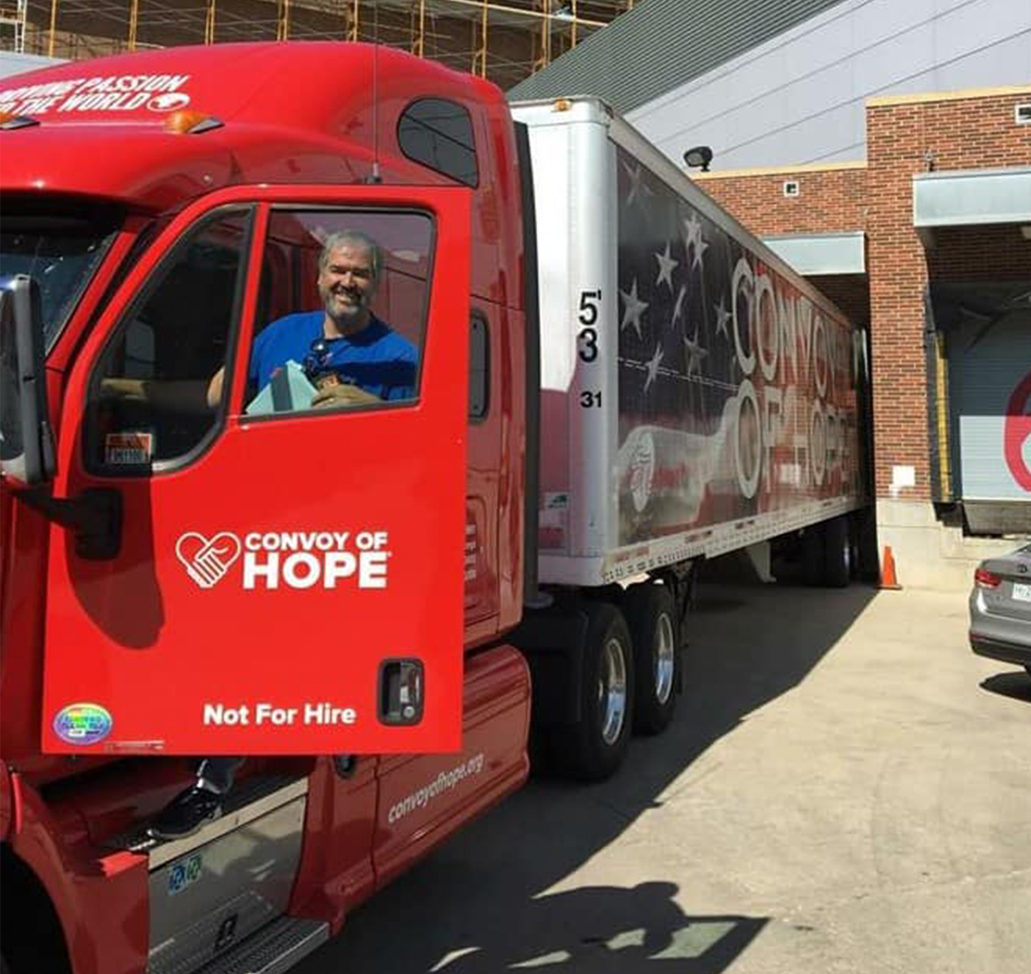 Convoy of Hope delivery truck