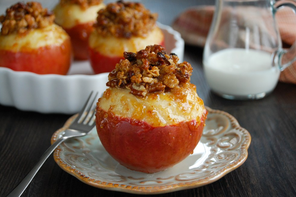 Fig & Granola Baked Apples