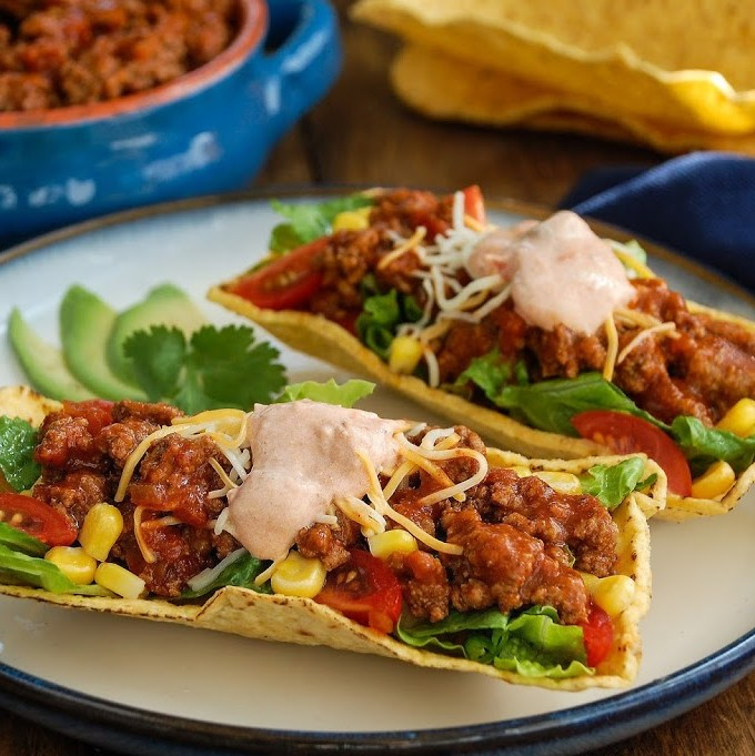 Individual Taco Salads