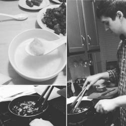 Cooking a Chinese meal