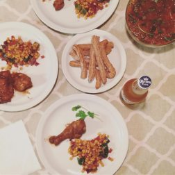 Our dinner, hours in the making.