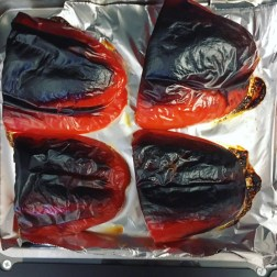 And the peppers get extra burnt before they get smokey.