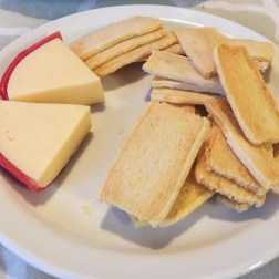 Our cheese and cheese cracker spread