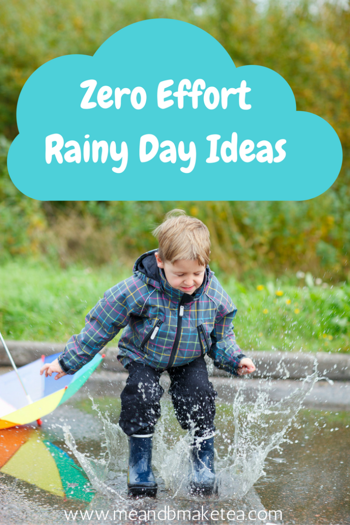 things to do with children kids toddlers when it rains rainy day ideas activities boredom