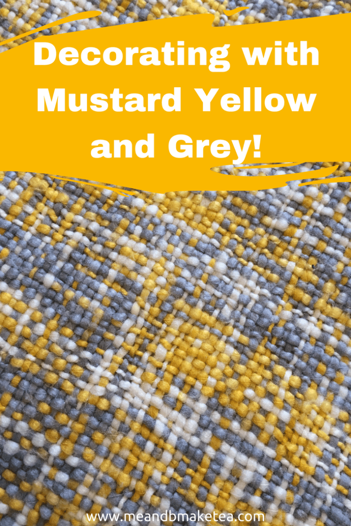 Decorating with Mustard Yellow and Grey decoraitng ideas and accessories