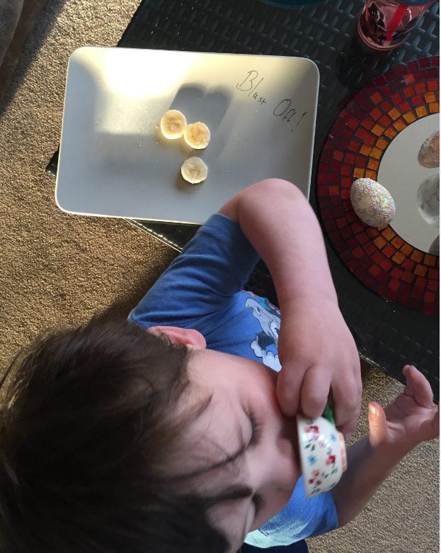 Healthy Fun Food for Children Me and B Make Tea_blast off banana rocket2