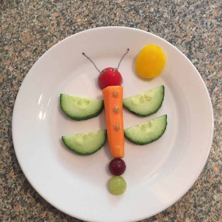 Dragonfly made of vegetables healthy
