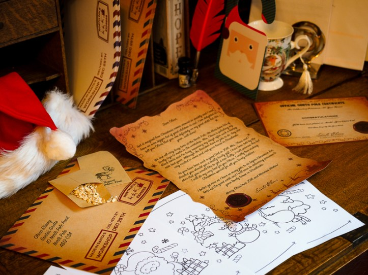 Magic Santa Letter toddlers father christmas suprise good naughty listnorth pole