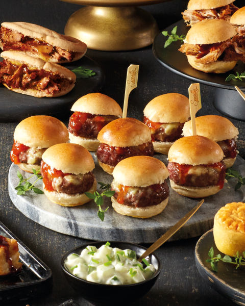 cheese burger slider buns ALDI christmas party food