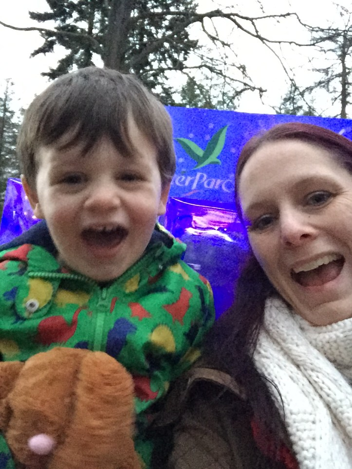 toddler father christmas santa visit expectations reality is it worth it center parcs winter wonderland review grotto elves