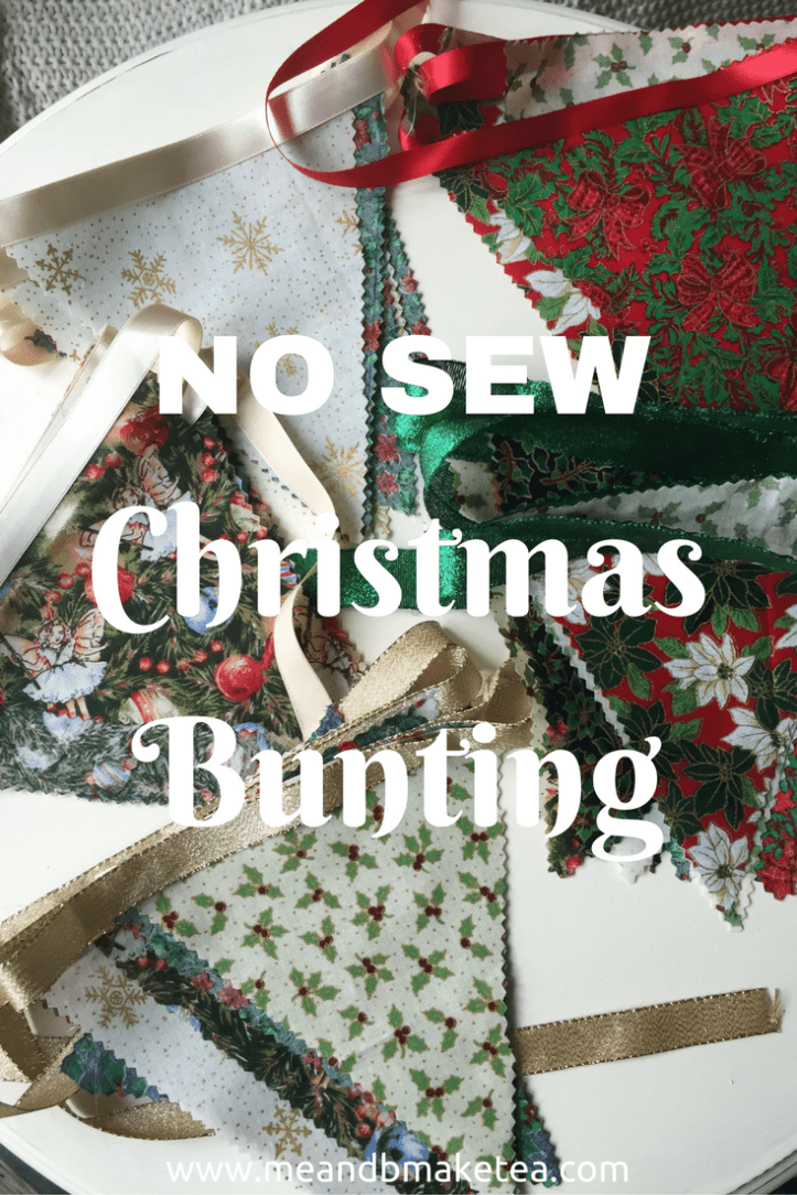 how to make no sew christmas bunting quick easy simple tutorial DIY template