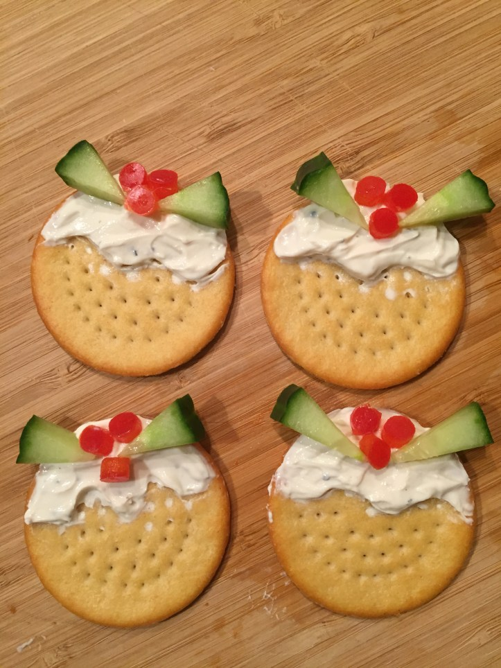 christmas pudding crackers easy to make cream cheese salad fussy eater picky children