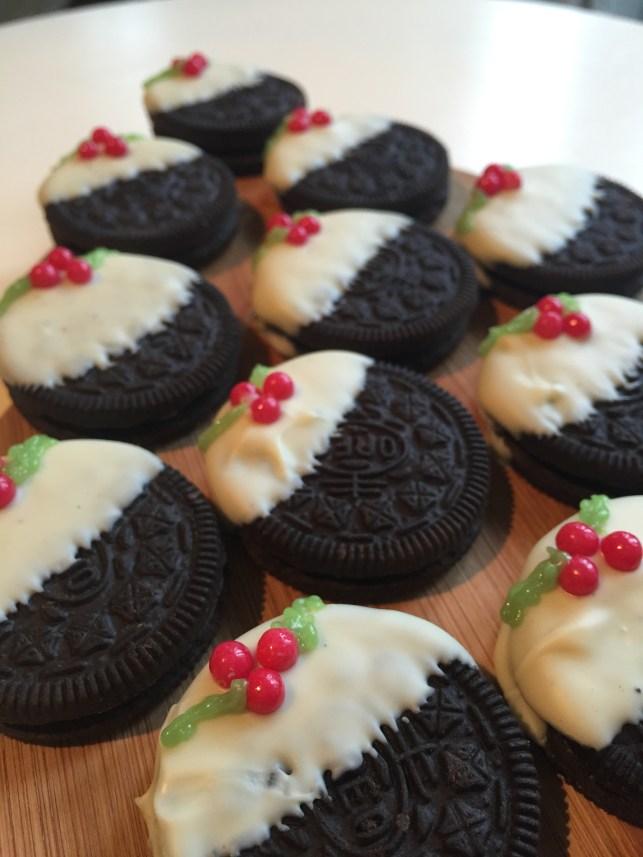 no bake oreo christmas pudding cookies