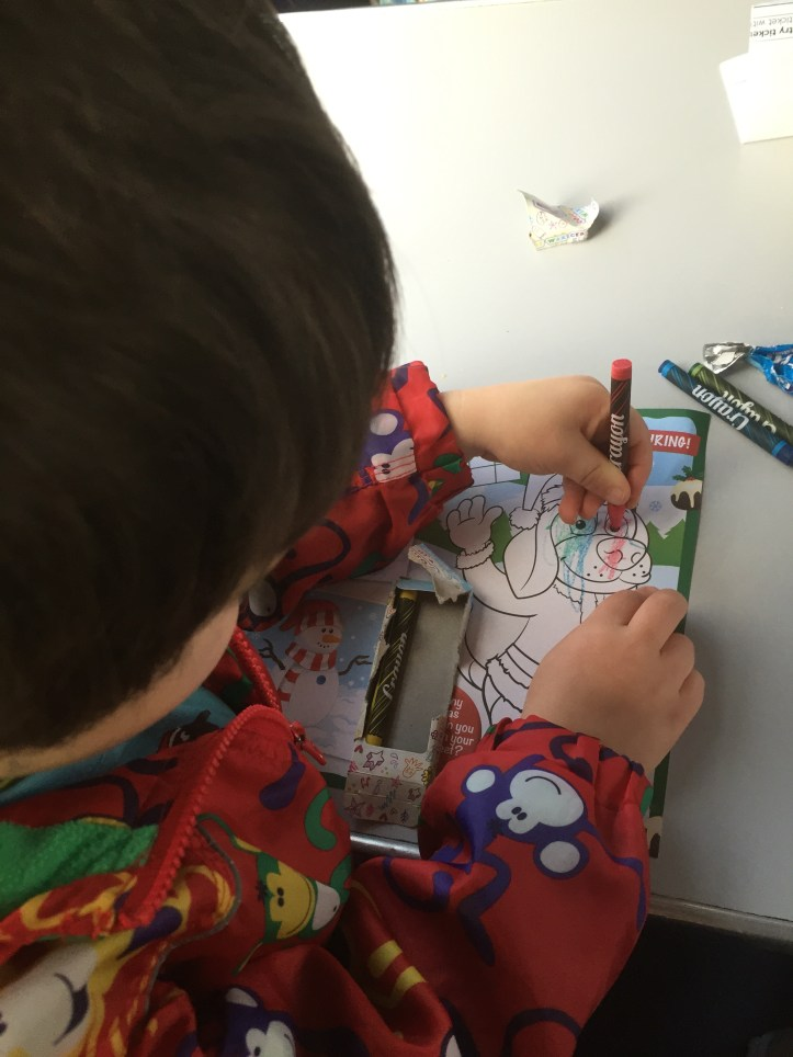 colouring west somerset railway santa express price review experience for children toddlers family christmas things to do
