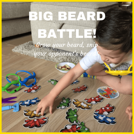 big beard battle shave grow snip fun board game