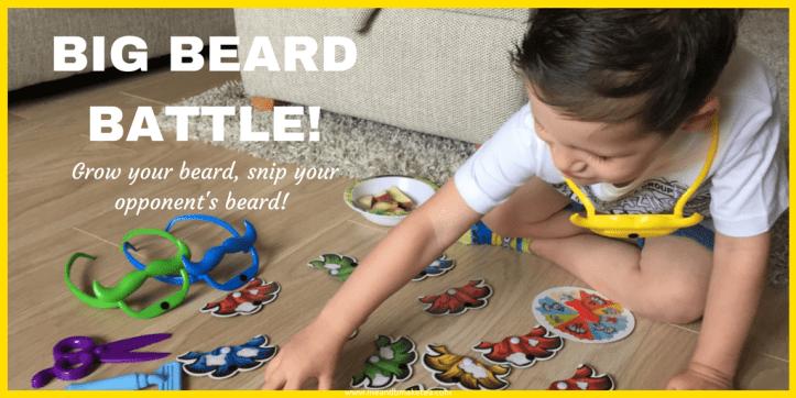 big beard battle shave grow snip fun board game