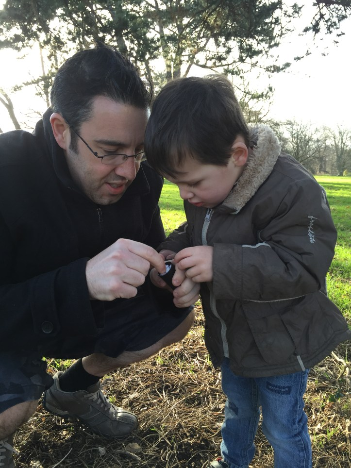geoachaching in the woods for half term holiday outdoor fun