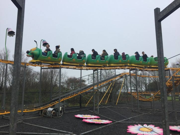 cosmic caterpillar rollercoaster at the milky way in devon