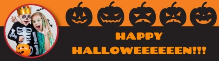 halloween dom and geri banner personalised