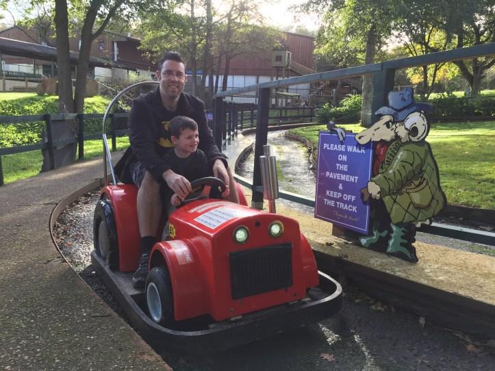 The big sheep devon amusement park tractor rides