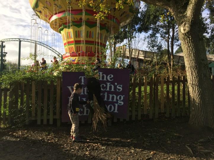 The big sheep devon amusement park halloween witch decoration