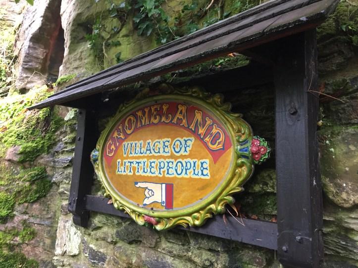 watermouth castle devon gnome land sign