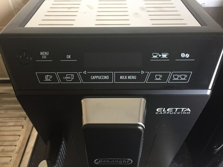 Delongi Bean Cup Espresso Cappuccin -Machine for black friday menu system
