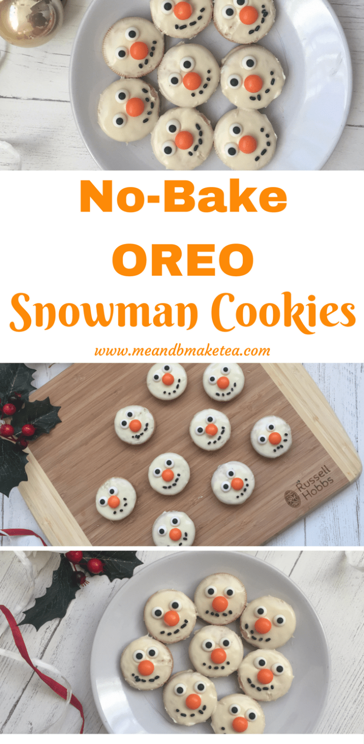 how to make snowmen no bake oreo cookies for christmas recipe included