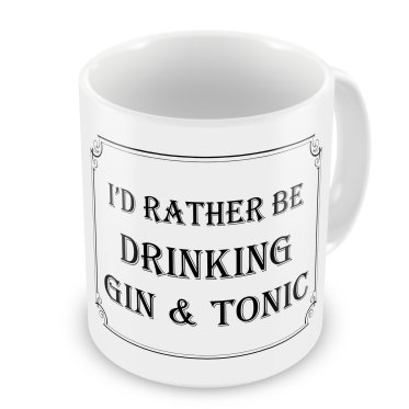 gin and tonic novelty mug