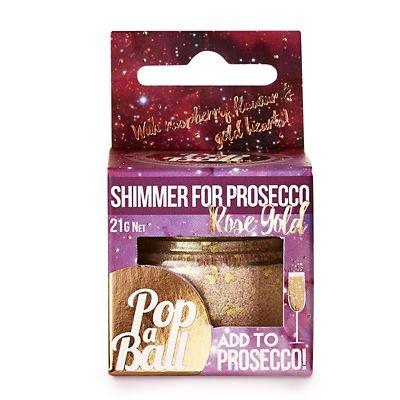 Raspberry Shimmer Popaball for Prosecco
