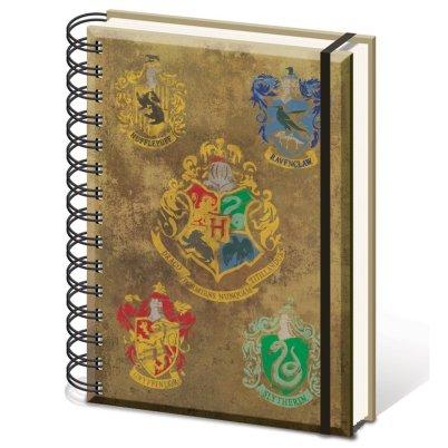 """Harry Potter A5 """"Hogwarts Crests"""" Notebook"""