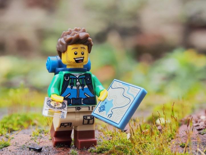 walking in winter lego man hiker